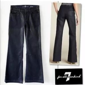7 For All Mankind Jeans - 7 For All Mankind Ginger Dark Waxed Flare Jeans